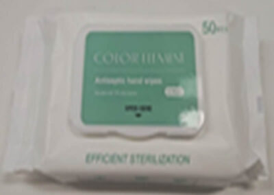 Antiseptic Hand Wipes(75% alcohol) 50pcs/canister